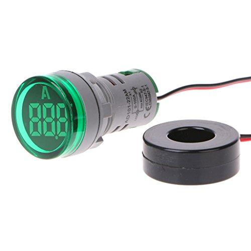 Exing AC220V 22mm Digital Amperemeter 0-100A Stromüberwachung Meter Signallampe Amperemeter
