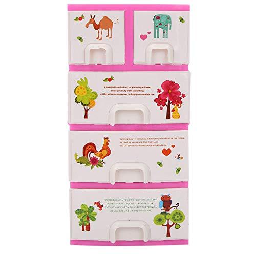 NOBRAND Wanqian Casa de muñecas de impresión de Dibujos Animados Armario ropero gabinete Mobiliario de Dormitorio de la muñeca de Juguetes para niñas