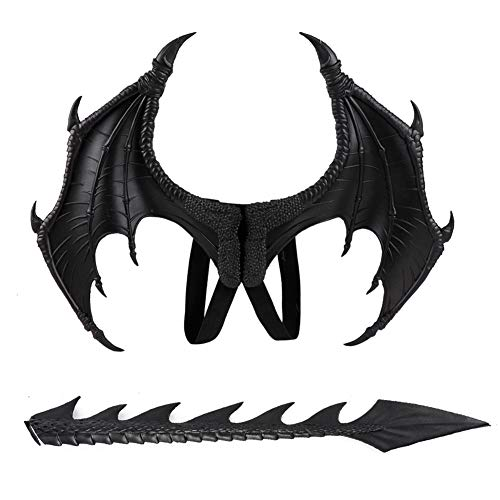 Raburt Wing and Tail Dragons Halloween Costume Props Set Children's Dress Up Cosplay Toy