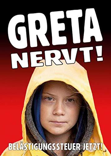 Aufkleber/Sticker - Greta nervt (Sticker-Set 10 Stück), Greta, Fridays for Future, Klimawandel, Klimaschutz, Klimakrise