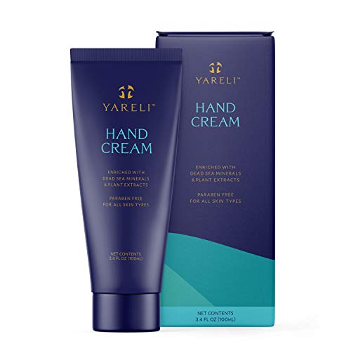 Yareli Hand Cream with Dead Sea Minerals, Lotion for Dry Cracked Hands, 3.4oz
