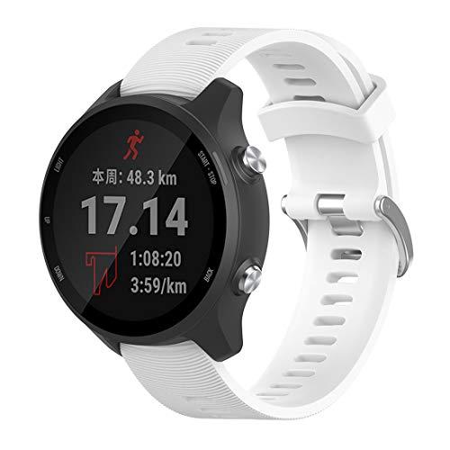 Bexido Correa de repuesto compatible con Garmin Forerunner 245 Music,20 mm de silicona suave pulsera deportiva correa de reloj para Garmin Venu Sq/Forerunner 245