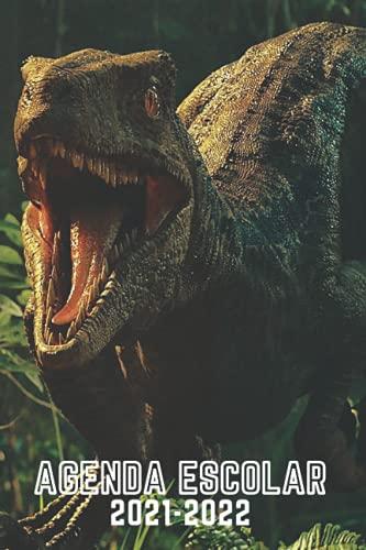 Agenda Escolar 2021-2022 Dinosaurio: Planificador escolar día por página Dinosaurio-calendario   Diario Para Estudiantes, Primaria, Colegio secundaria   niña y niño