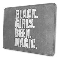 ゲーミングマウスパッド - 黒人 女 子 魔法 マウスパッド おしゃれ ゲームおよびオフィス用/防水/洗える/滑り止め/ファッショナブルで丈夫 25x30cm