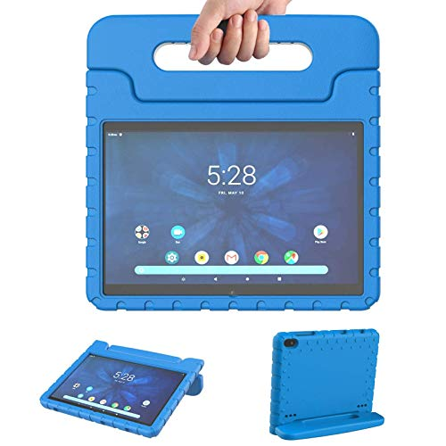 Onn 10.1 Tablet Case 2019 for Kids | Blosomeet ONA19TB003 EVA Lightweight Shockproof Onn Tablet Case 10.1 inch | Durable Protective Cover with Handle Stand for Onn 10.1 Android Tablet | Blue
