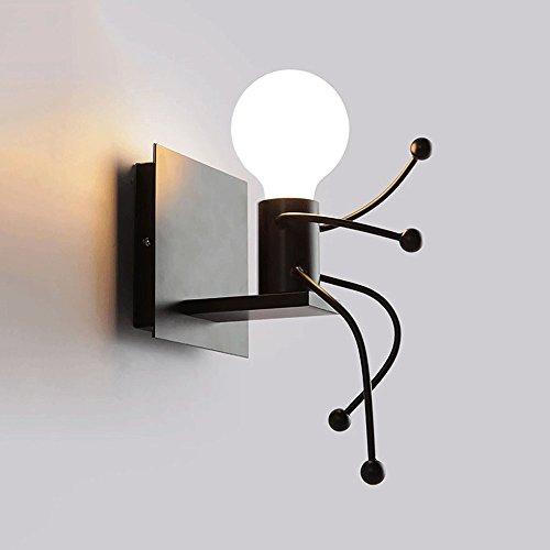 Vinteen Mode Double Tête Enfants Lampe Murale Simple Salon Applique Murale Chambre Moderne Mignon Créative Chambre Chevet Mur Projecteurs Tête Murale 3D Dessin Animé Lumières Led