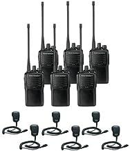 6 Pack of Motorola VX-261 UHF Two Way Radios PREPROGRAMMED with 6 Speaker Mics (MH-450)