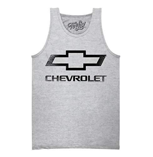 Tee Luv Chevrolet Tank Shirt - Chevy Bowtie Logo Graphic Tank Top (Athletic Heather) (XL)