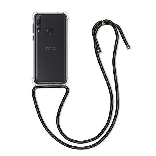 kwmobile Schutzhülle kompatibel mit HTC Desire 19+ / 19s - Hülle mit Kordel zum Umhängen - Silikon Handy Hülle Transparent