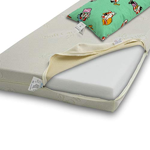 Materasso per BAMBINO 60x130 alto 12cm, anallergico, con struttura ANTISOFFOCO, offre un igiene superiore, essendo LAVABILE IN TUTTE LE SUE PARTI.
