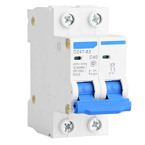 Interruttore automatico miniatura DZ47-63 2P 400V AC interruttore automatico interruttore di protezione differenziale 25A 40A 50A 63A(40A)