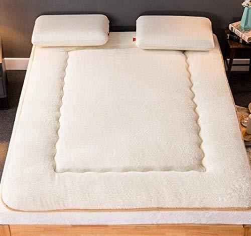 Colchones de futón Thicken Futon Colchón portátil Plegable de Suelo Suave, futones japoneses Dobles Individuales, colchón Enrollable de Tatami japonés, colchón Plegable Grueso para