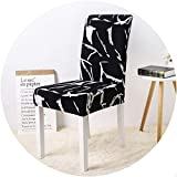 better-caress Chair Cover Modern Style Fl Printed Universal Spandex Stretch Short Removable Elastic Cloth Chair Covers Banquet Style,Cr 21,Universal Sizes
