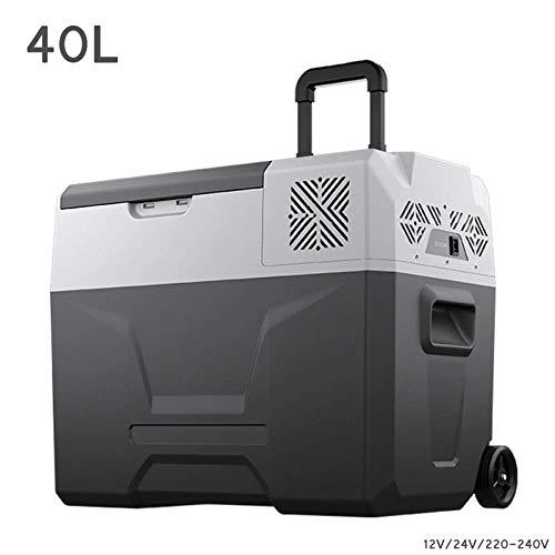 QCGZJCY 40L Coche refrigerador compresor congelador- Caja fría Camping Nevera camión 24V/12V/220V (40L) Coche Mini refrigeradores para Conducir Viaje Pesca al Aire Libre y Uso doméstico