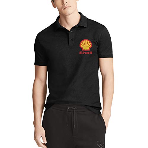 GuLuo Shell-Gasoline-Gas-Station-Logo Mens Polo Shirt Funny Sport Short Sleeve Tshirt