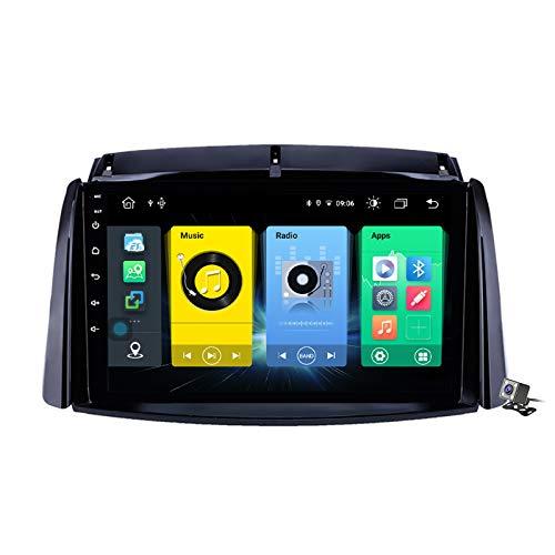 Buladala 9 Pollici QLED Screen Android 10 Stereo MP5 Player per Renault Koleos 2008-2016, Supporto GPS Navigation/DSP BT 5G/FM AM RDS Autoradio/Controllo del Volante/Carplay Android Auto,7862: 6+128