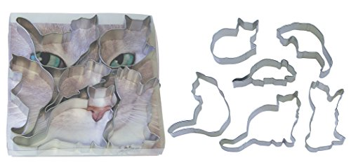 R&M International 1822 When the Cat's Away Cookie Cutters, Assorted, 6-Piece Set