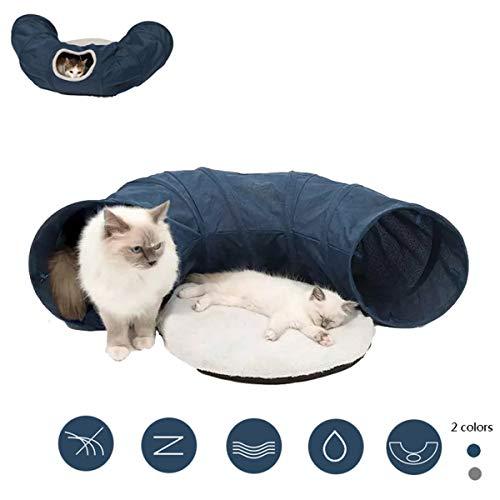 IOPJKL Túnel para Gatos, túnel para Mascotas Cama para Gatos Canal para Gatos Juguetes para túneles para Mascotas en Interiores, Arena para Gatos, Suministros Divertidos de Juguetes para Gatos(Blue)