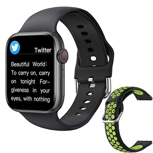 ZGLXZ T800 Smartwatch 1.72 Pulgadas Bluetooth Llamada DIY AIL Aptitud Pulsera Smart Watch para Hombres Y Mujeres PK IWO W46 W56 Series 6 para iOS Android,D