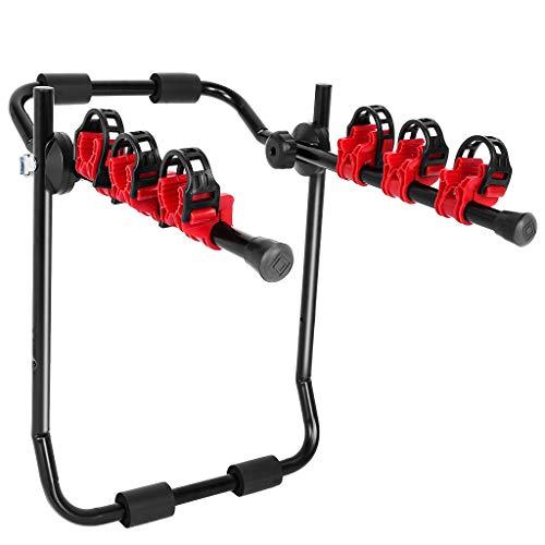 zhu%zai Trunk Mounted Bike Rack for Most Car SUV (Sedans/Hatchbacks/Minivans) 3-Bike Trunk Mount Bicycle Carrier Rack