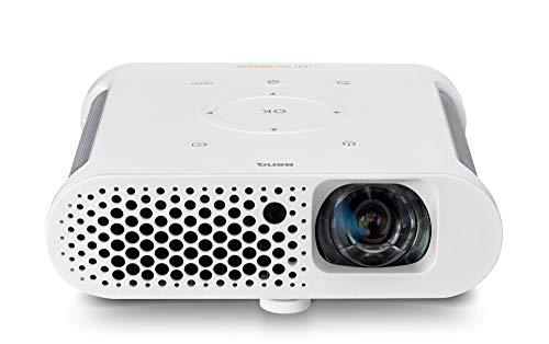 BenQ GS1 Videoproiettore LED Portatile, USB e Bluetooth Integrati, Proiezioni di 60' a 1 Metro di Distanza, Contrasto Elevato di 100.000:1, HDMI per Divertirsi all'Aperto con la Famiglia