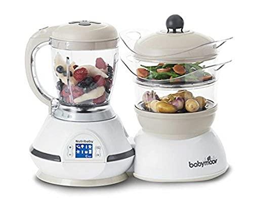 Babymoov Nutribaby Classic Cream Robot Multifonctions 5 en 1 Cuiseur Mixeur pour Bébé