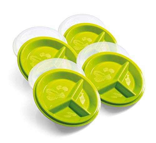 Amazon Black Friday Deals 2018 - Precise Portions Go Healthy Portion Control Plate - BPA-Free,Dishwasher & Microwave Safe - Pack of 4.