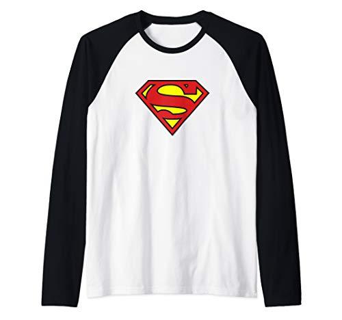 Superman Classic Logo Raglan Baseball Tee