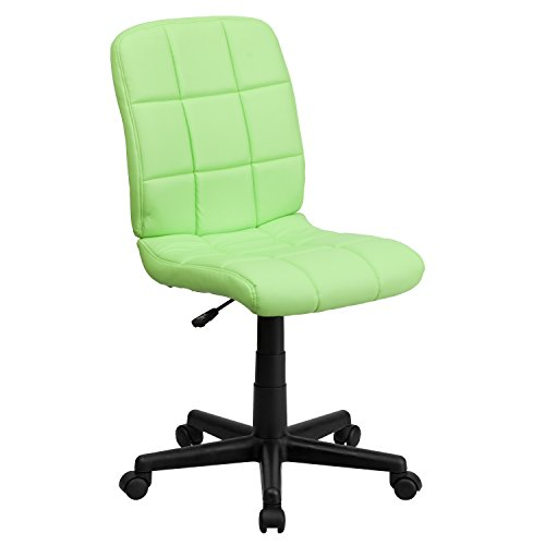 Flash Furniture Mid-Back Green Quilted Vinyl Swivel Task Office Chair
