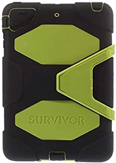 Griffin Survivor for iPad mini 1/2 / 3 with Stand & Built-in Screen Protector – Yellow Green