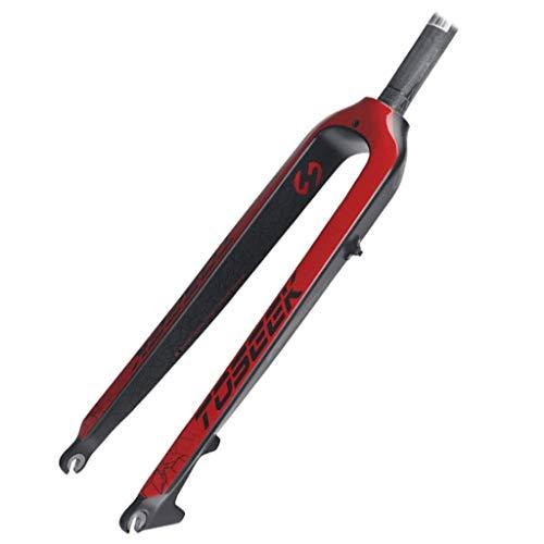 TYXTYX Horquilla Delantera de Fibra de Carbono para Bicicleta de montaña, Horquilla de suspensión MTB de 27,5/29 Pulgadas, Freno de Disco de 160 mm, 1-1/8'