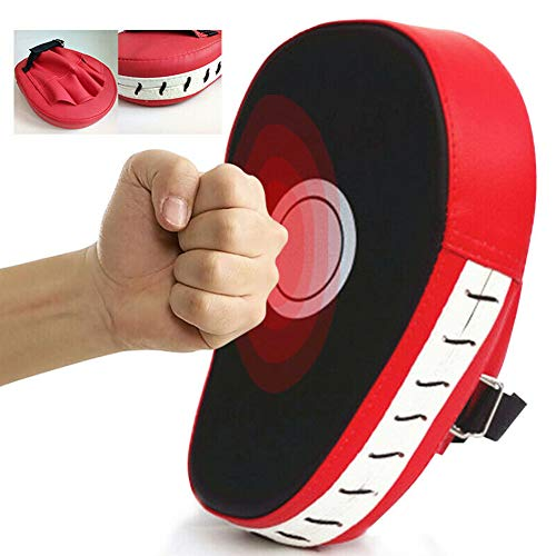 GARDENYEAR Curved Punching Mitts Boxing Pads MMA Punch Mitts Training Boxing Punch Focus Mitts Target Focus Five-Finger Punch Pad Gloves Karate Muay Thai Kickboxing