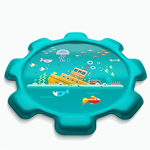 CuiCui 170Cm Water Mat Summer Kids Water Play Mat Spray Inflable Juegos De Agua Pad Sprinkler Play Toys Bañera Al Aire Libre Piscina