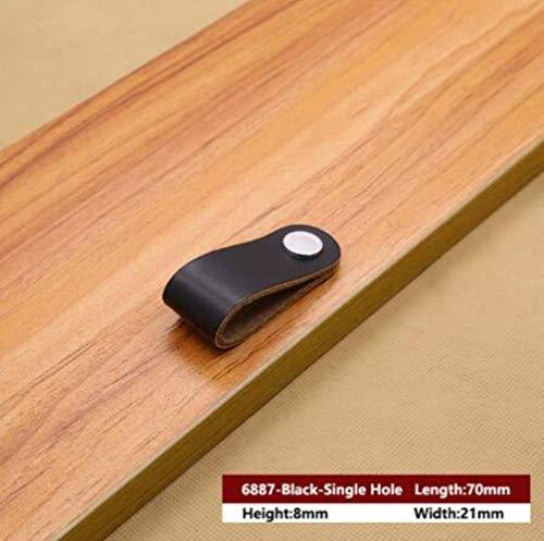 XCVB Lederen handvat Meubelgreep Hardware Decoratie Zinklegering Kast Dressoir Handvat Tas Handvat Lade deurknop Bruin Zwart, MBS0010-7