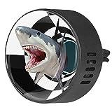 BestIdeas - Ambientador de aire para coche con tiburón silvestre en túnel, aroma floral de fruta de la pasión, difusor de aceites esenciales de aromaterapia