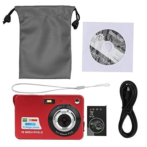 8x zoomkaart Digitale camera 2,7 inch TFT LCD-scherm draagbare 18 MP 32 GB geheugenkaart Ingebouwde microfoon(rood)
