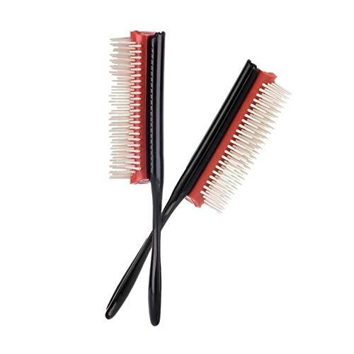 CZXKJ Entwirrungskamm Haarstyling-Kamm-Bürsten Haarbürste Friseur gerade lockige Haare kämmen Frauen Haarbürste Weiche Ideal für alle Haartypen