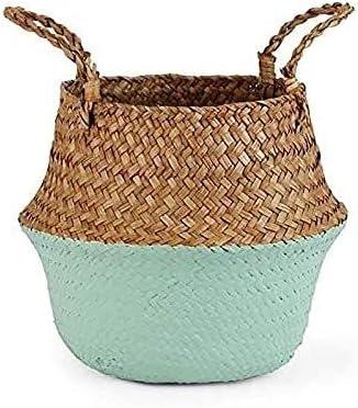 Max 60% OFF ZSPSHOP 1pcs Ranking TOP11 Flower Pot Seagrass Storage Baskets Laundry