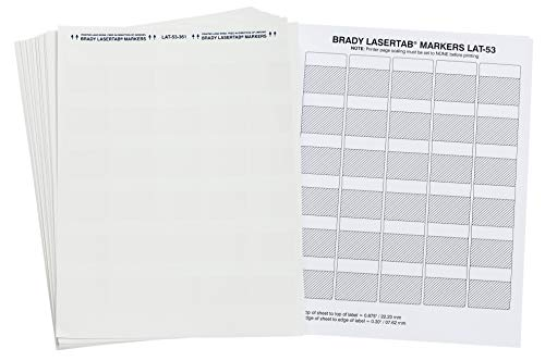 """Price comparison product image Brady LAT-53-361-1 1.5"""" Width x 1.5"""" Height,  B-361B Self-Laminating Polyester,  Matte Finish White / Translucent Laser Printable Label (Pack of 1000)"""