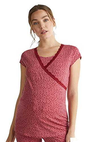 ESPRIT Maternity Sleep Shirt Still-Nachtshirt Mannen Slaapjas Vrouwen Modieus Nachtkleding