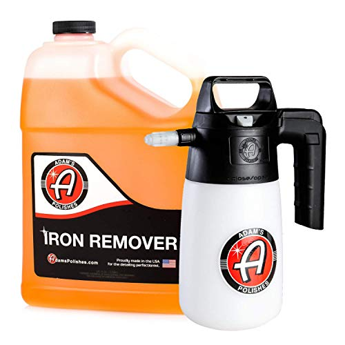 Adam's 1.5 Pump Multi Sprayer 35oz - Easy to Use Design - Easily Spray Your Entire Vehicle With Your Favorite Spray Wax, Detailer, Sealant, Cleaner, and More (Iron Remover Bundle)