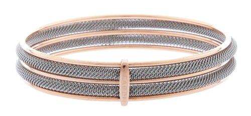 Skagen Damen Armreif Armband Milanaiseband silber - rose gold JGSR029M