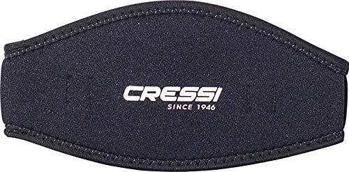 Cressi Mask Strap - Funda de Correa de Surf, tamaño único, Color Negro