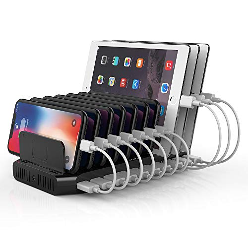 Unitek Fast Charging Station with Quick Charge 3.0, Multi USB Charger Station for Multiple Devices, iPhone, iPad, Tablet, Kindle-Black(UL Certified)