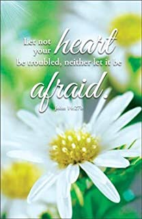 Let Not Your Heart Be Troubled. - Funeral Bulletin -KJV Scripture - (Package of 100)