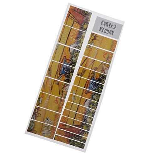 Hellery Griffbrettaufkleber, Gitarrenbass Griffbrettmarkierungen Griffaufkleber Dekorieren - Style 5