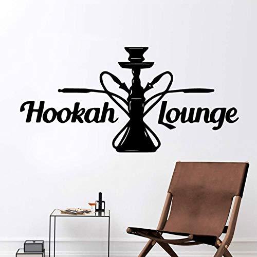 KBIASD Cartoon Hookah Lounge Wall Sticker PVC extraíble calcomanía para tienda de cachimba Naturaleza Decoración Vinilo Murales Comerciales Pegatinas 89x43cm