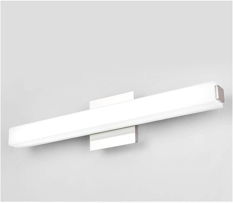 NIUZIMU Spiegellampen Led-Spiegel Scheinwerfer, Anti-Badezimmer Badezimmer Nebelscheinwerfer Licht Einfache Moderne Badezimmer Wandleuchte -0223 (Farbe   Weies Licht, gre   42cm)