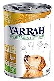 YARRAH Nourriture Bio pour Chien Pate - Poulet - Spiruline - Algue de mer - 400 g - 12 x 400 g
