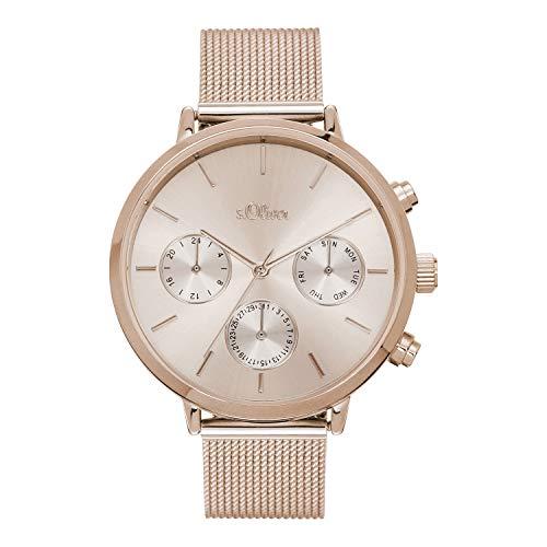 s.Oliver Damen Analog Quarz Uhr mit Edelstahl Armband SO-4201-MM